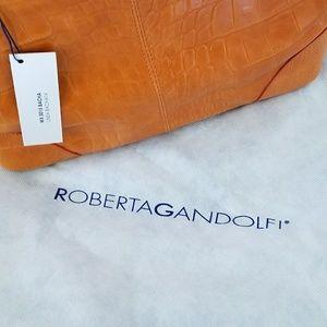 7f38b8d123 Roberta Gandolfi Bags - Roberta Gandolfi Orange Leather Handbag